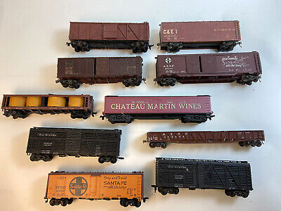 $ CDN35.36 • Buy Lot Of 10 Ho Scale Trains Vintage Freight Cars Roundhouse Athearn Etc