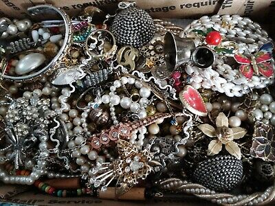 $ CDN25.70 • Buy #6 Vintage To Now Estate Find Jewelry Lot Junk Drawer Unsearched Untested Wear