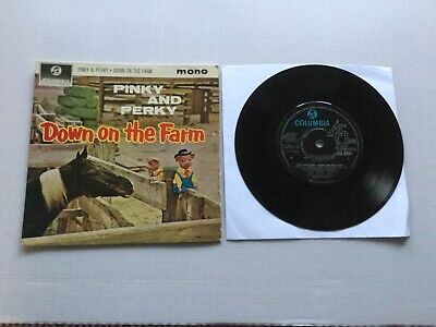 """Pinky And Perky """" Down On The Farm """" Orig 1963 Columbia E.p.+ Orig Picture Cover • 1.99£"""