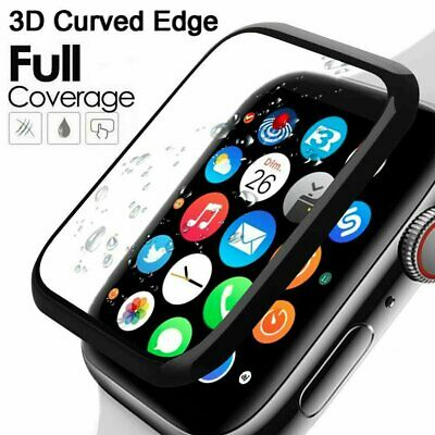 $ CDN5.18 • Buy For Apple Watch Series SE 6 5 4 3 Curved 3D Tempered Glass Screen Protector Case