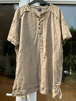 IPEKCI Fine Cotton Tunic Shirt Size XL Fawn • 5.95£