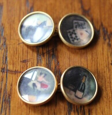 Four Vices/wine, Women And Song Cuff-links • 7.99£