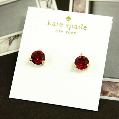$ CDN30.31 • Buy NWT KATE SPADE SQUARE RISE AND SHINE ROUND STUD EARRINGS $38 Ruby Red