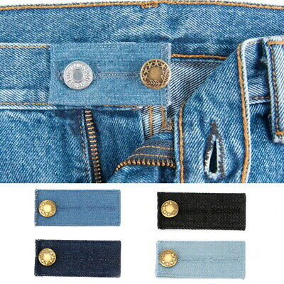 $7.61 • Buy 4/8PC Waist Band Extender Button Maternity Trousers Jeans Elastic Widen Expander