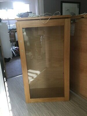TWO Wooden Wall Mounted Display Cabinet • 50£