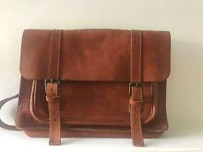 Handmade Tan Leather Satchel Bag (very Toast) Excellent Condition • 25£