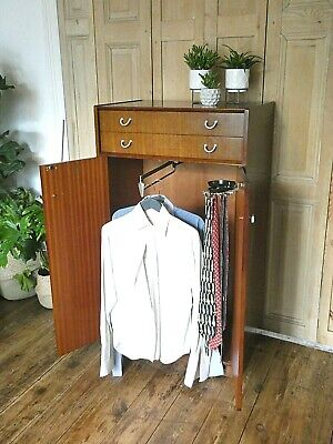 Mid Century G Plan Gentleman's  Wardrobe In Retro Teak  • 225£