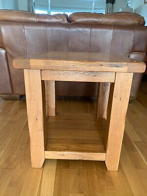 Pair Of Solid Oak Side Tables, Second Hand • 40£