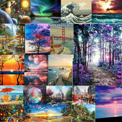 Landscape DIY Oil Acrylic Painting Kit Paint By Numbers Adult Children Beginners • 6.59£