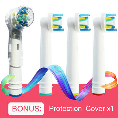 AU6.47 • Buy 4 Electric Toothbrush Replacement Heads For Oral B Brush Compatible-Floss Action