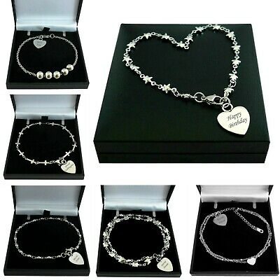 Personalised Bracelets With Engraving For Women Or Girls, Gift Box, High Quality • 14.99£