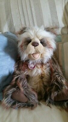 Charlie Bears SIMON CB193941B Adorable Open Mouthed Collectable Bear, Tags & Key • 50£