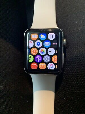 $ CDN200 • Buy Apple Watch Series 2 42mm Stainless Steel Case White Sport Band - (MNPR2LL/A)