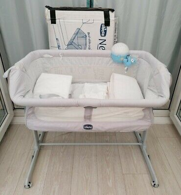 Next2me Crib Dream Chicco Baby Co Sleeping Cot Bedside Next To Me • 75£