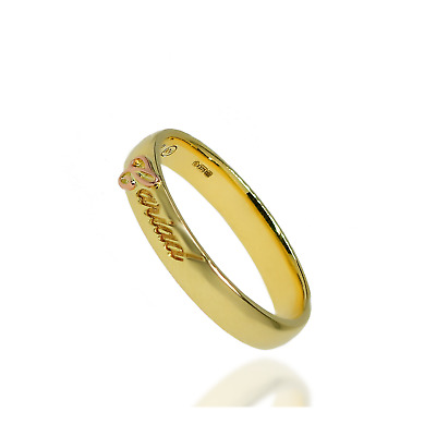 Clogau Gold Ring 9 Ct Cariad Band Yellow Wedding Welsh Rose JKLMOPQRST Engraved • 199.99£