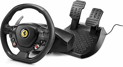 Thrustmaster T80 Ferrari 488 GTB Edition (PS4 / PC) Racing Simulator Wheel Black • 89.99£