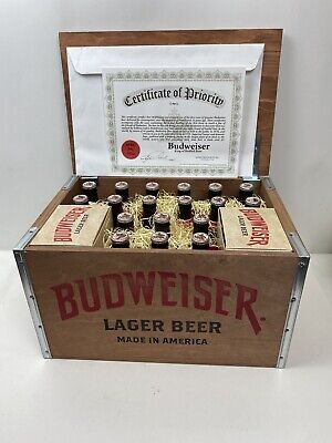 $ CDN163.64 • Buy BUDWEISER LIMITED EDITION 2015 VINTAGE STYLE 1876 Wood Crate W Bottles & Glasses