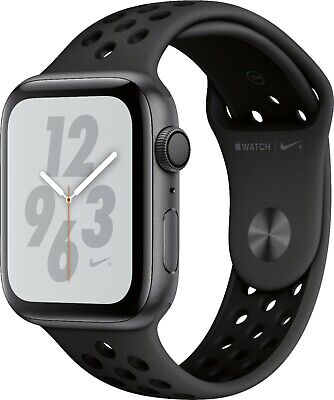 $ CDN461.36 • Buy Apple Watch Series 4 Nike+ 44 Mm Space Gray Aluminum Case Nike Sport Band-Sealed