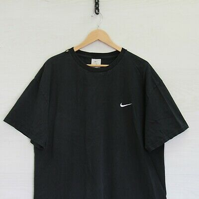 $ CDN52.71 • Buy Vintage Nike T-Shirt Size XL Black Embroidered Swoosh