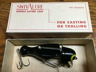 $ CDN35.11 • Buy Antique Vintage SwivALure Fishing Lure--B30--all Black--New In The Box-----WOW~!