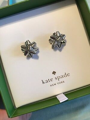 $ CDN49.53 • Buy Kate Spade New York Bourgeois Bow Silver Stud  Earrings New With Box