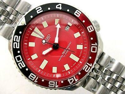 $ CDN613.36 • Buy Seiko Vintage Diver 7002-7000 Custom Red SS Automatic Mens Watch Auth Works
