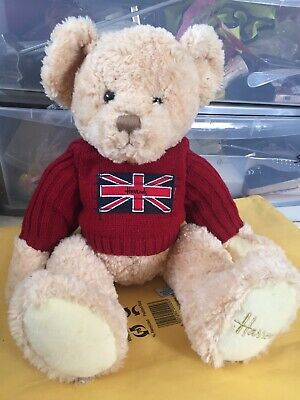 Harrods Collectable Teddy Bear - Soft Toy London Plush • 20£