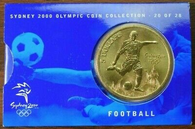 Sydney 2000 $5 Olympic Coin - Collection Is 20 Of 28 - Football • 30£