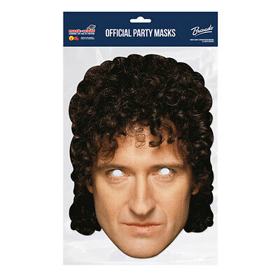Brian May Queen CELEBRITY PARTY MASKS MASK FUNNY STAG CARDBOARD FACE  • 2.99£