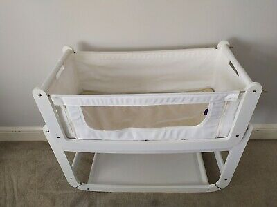 Snuzpod, 3 In 1, White, Co-sleeper Next To Me Crib / Cot, Bedside Crib. • 45£