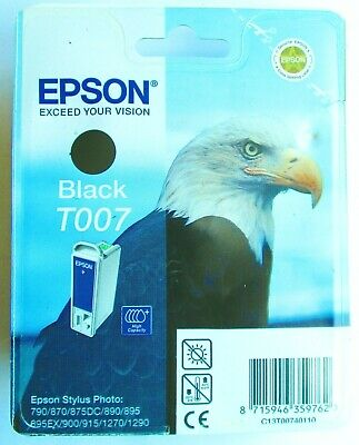 Genuine Epson T007 Black Eagle Ink Cartridge. New Other. • 7.49£