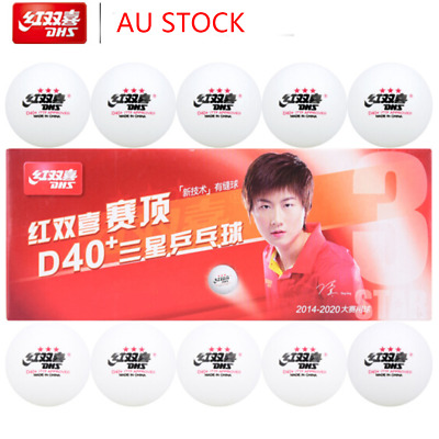 AU20.50 • Buy 10x DHS 3-Star D40+ Table Tennis ABS Plastic Balls PingPong Balls ITTF Approved