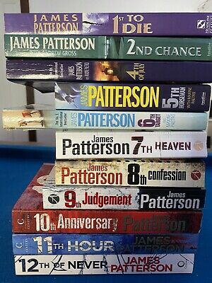 AU80 • Buy James Patterson - Lot Of 11 Women's Murder Club Books #1,2,4-11