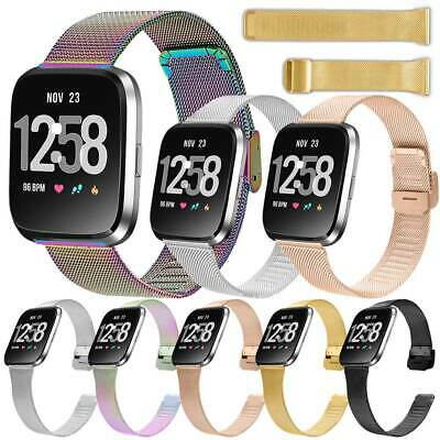 $ CDN10.04 • Buy For Fitbit Versa2 Fitbit Versa Lite Stainless Steel Adjustable Watch Band Strap