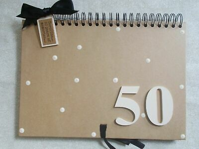 Personalised Handcrafted A4 50th Birthday Guest Book Scrapbook Photo Album Gift • 17.95£