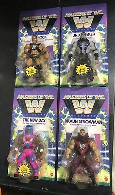 $94.99 • Buy Masters Of The WWE Universe Complete Set Wave 3 Rock Undertaker New Day Strowman