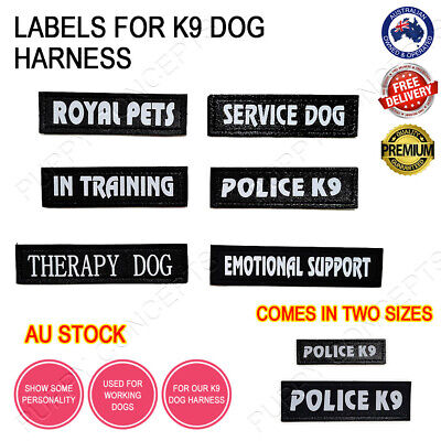 AU4.99 • Buy Labels For K9 Dog Harness Patch Patches Collar Vest Working Duty Name Customise