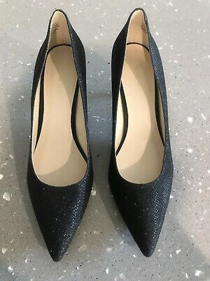 AU30 • Buy Nine West Black Kitten Heel Evening Wedding Shoes 7.5 38