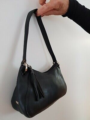 AU30 • Buy Oroton Handbag Black Leather Small With Tassle