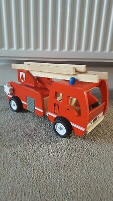Push Along Wooden Solid Fire Engine Truck Toy • 6.99£
