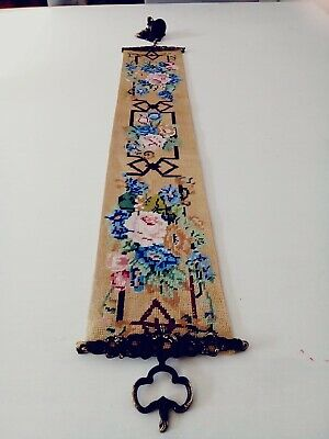 Vintage Cross-stitch Bell Pull With Bell • 25£