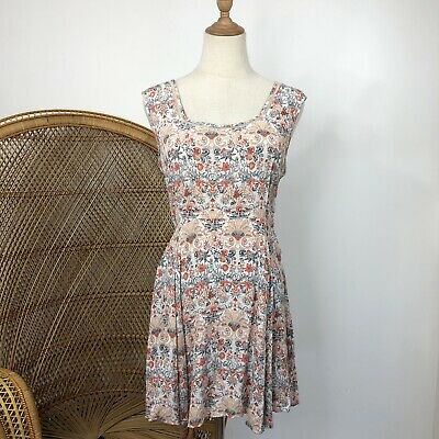 AU28 • Buy Tigerlily Fit & Flare Dress Size 10 S Boho Hippy Print Viscose Rayon Blend
