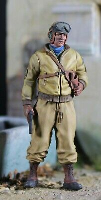 1/35 Scale Panzer Art Resin, Figure Hand Painted United States Army ,eto Ww2 , • 30£