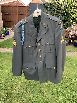 US U.S. Army Airborne Coat Jacket 75th Rangers Insignia Special Forces Green • 40£