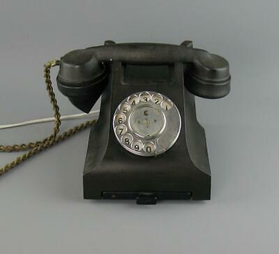 Vintage 1955 GPO 332F Bakelite Telephone With Drawer Converted For Restoration • 65£