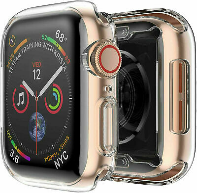 $ CDN8.82 • Buy For Apple Watch Series 4, 44mm FULL SCREEN Clear Soft TPU Protector Cover