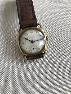 Vintage Gold Filled Mechanical Wind 15jewels In Good Working Condition 1920's Fi • 20£