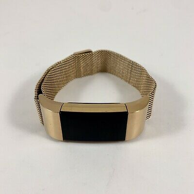 $ CDN66.67 • Buy Fitbit Charge 2 Heart Rate Monitor Fitness Tracker Gold Band And Charger FB407