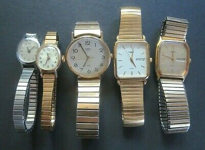 $ CDN9.99 • Buy Vintage Timex Mens/ladies Wristwatches + Case  As-is Lot For Parts/repair
