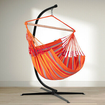 Durable Swing C-Stand For Hanging Hammock Chairs Black Powder-Coated Steel 85  • 10.50£